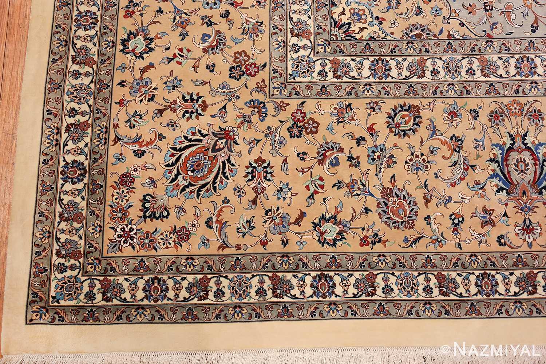 fine large vintage persian silk kashan rug 60039 corner Nazmiyal