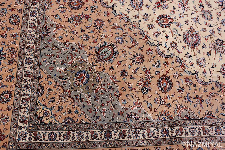 fine large vintage persian silk kashan rug 60039 design Nazmiyal
