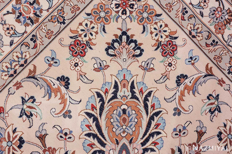 fine large vintage persian silk kashan rug 60039 knots Nazmiyal