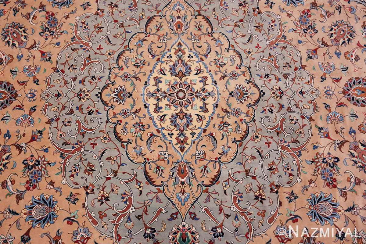 fine large vintage persian silk kashan rug 60039 middle Nazmiyal