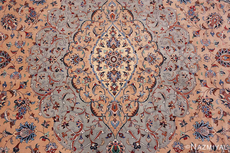 fine large vintage persian silk kashan rug 60039 middle Nazmiyal