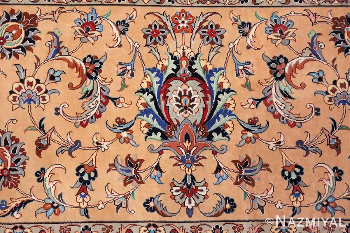 fine large vintage persian silk kashan rug 60039 pattern Nazmiyal