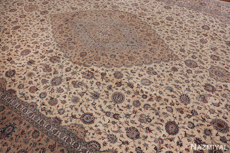 fine large vintage persian silk kashan rug 60039 side Nazmiyal