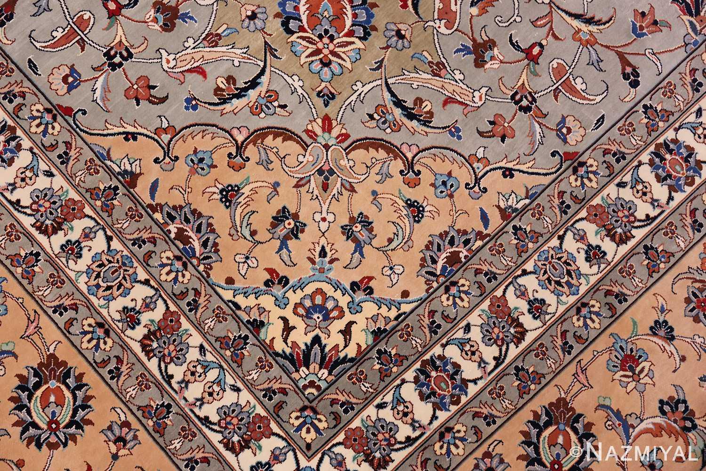 fine large vintage persian silk kashan rug 60039 third Nazmiyal