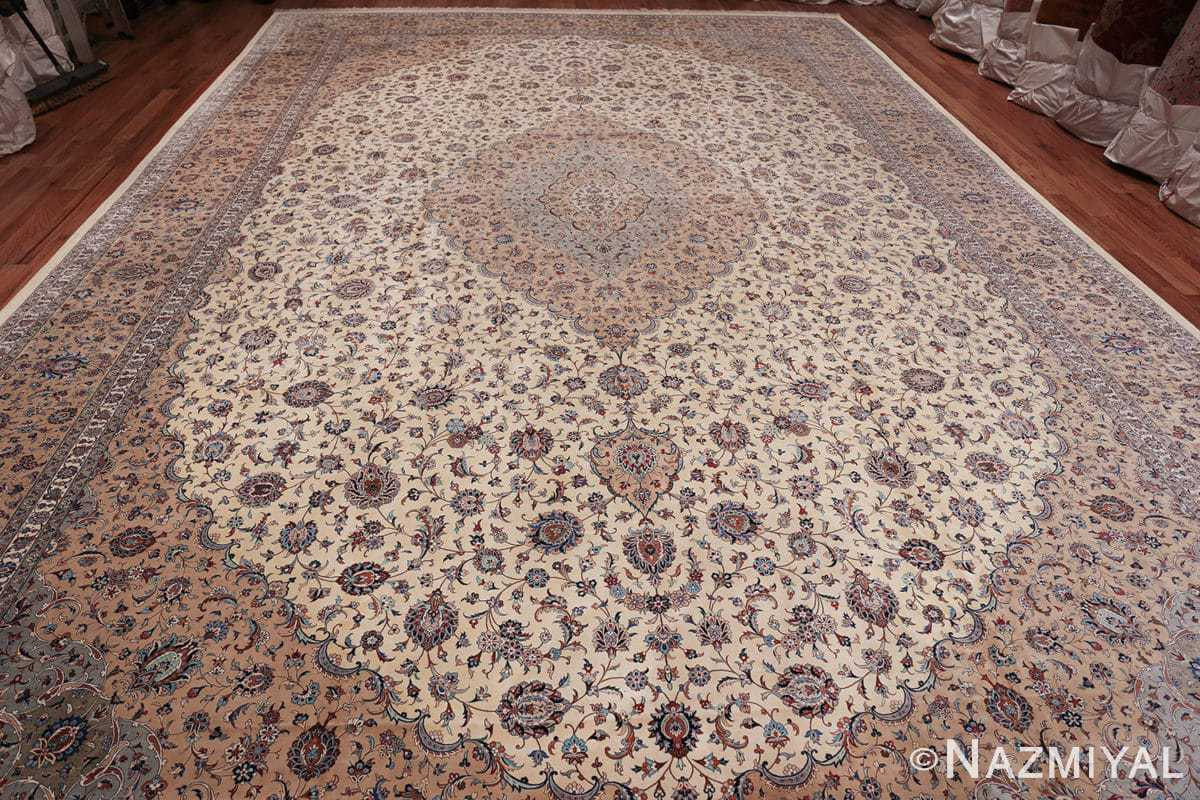 fine large vintage persian silk kashan rug 60039 whole Nazmiyal