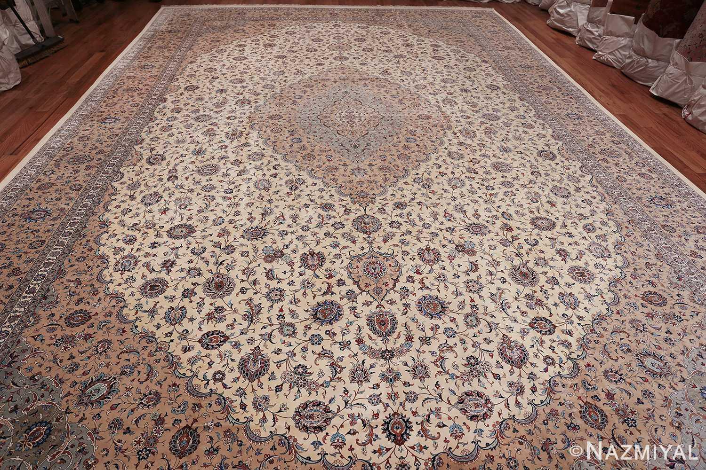 fine large vintage persian silk kashan rug 60039 whole Nazmiyal