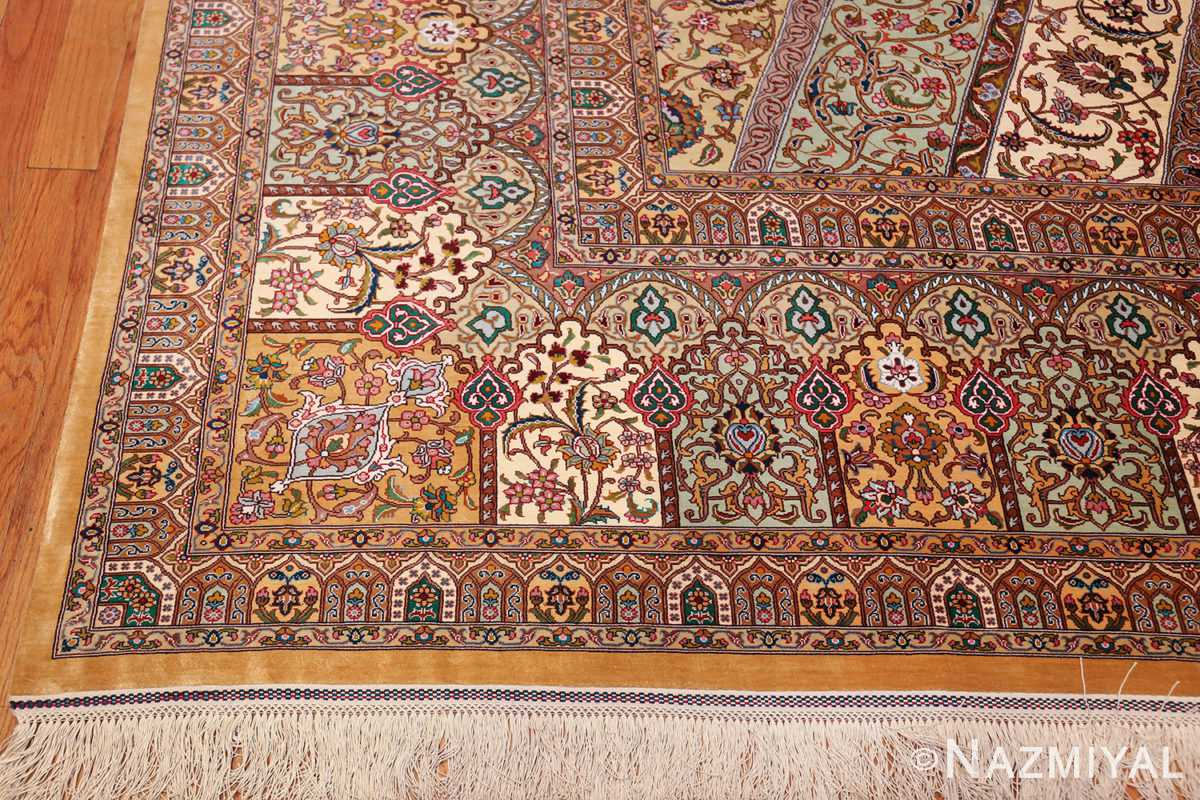 Large Vintage Silk Persian Qum Rug 60035 By Nazmiyal