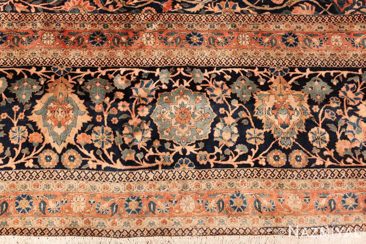 large antique persian mohtasham kashan rug 60038 border Nazmiyal