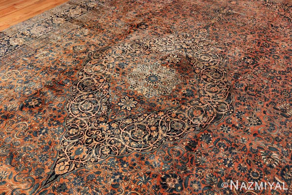 large antique persian mohtasham kashan rug 60038 field Nazmiyal