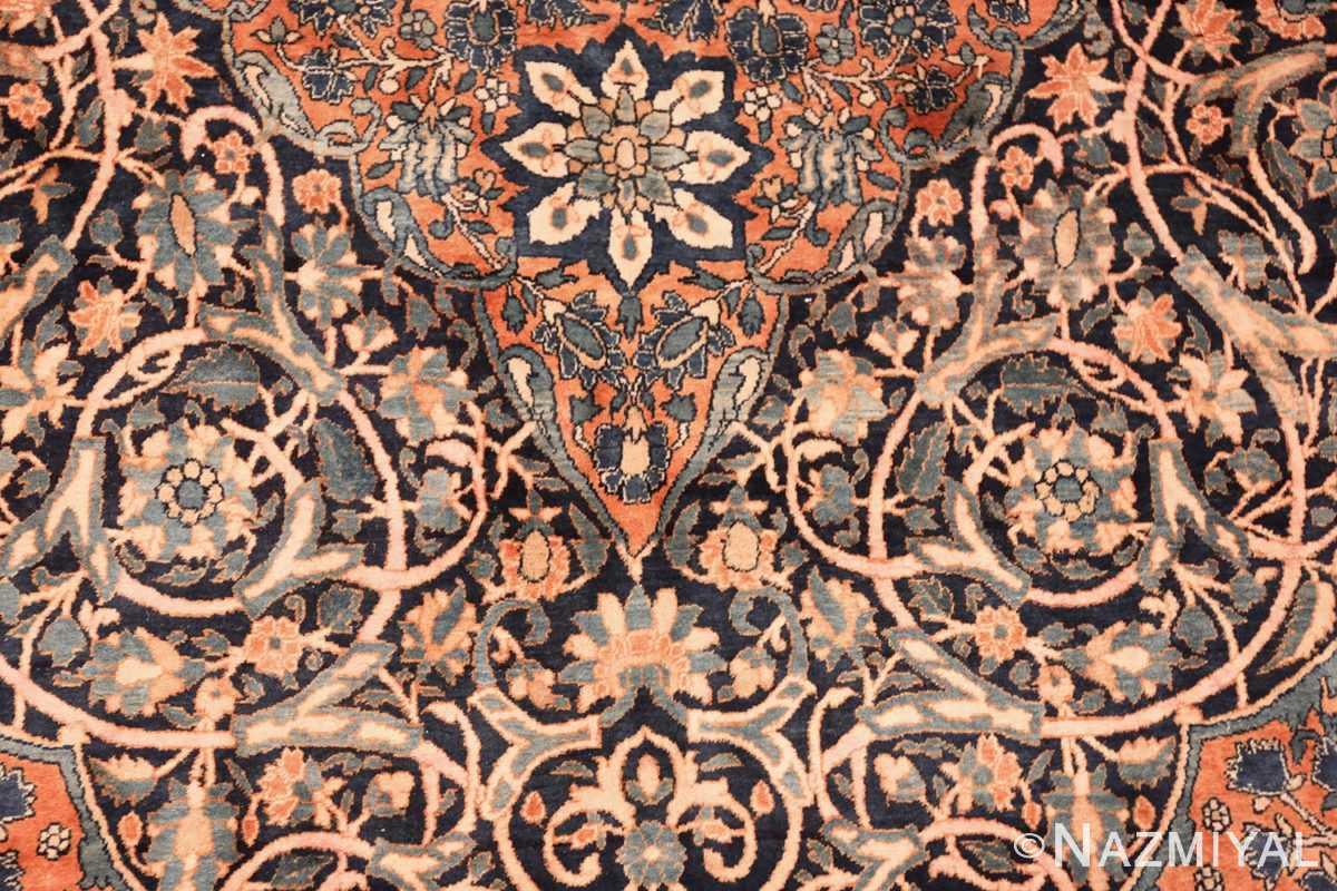large antique persian mohtasham kashan rug 60038 lines Nazmiyal