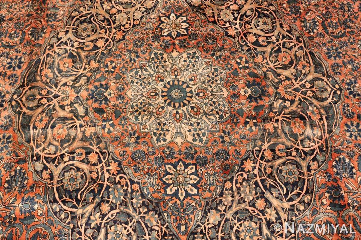 large antique persian mohtasham kashan rug 60038 medallion Nazmiyal
