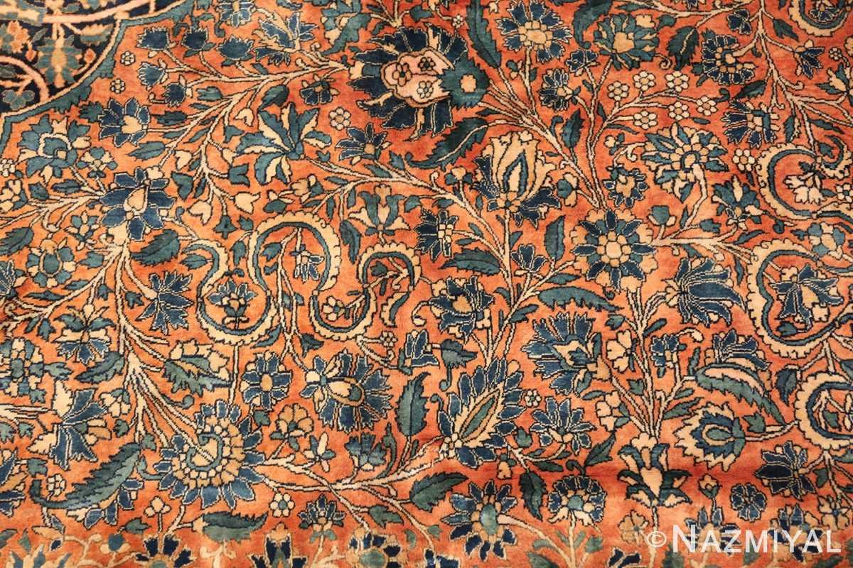 large antique persian mohtasham kashan rug 60038 scrolls Nazmiyal
