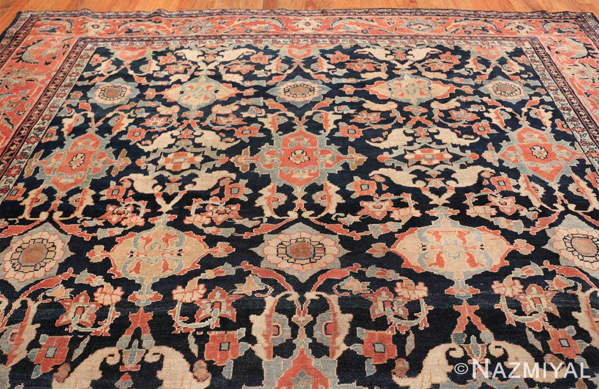 large antique sultanabad persian rug 49678 top Nazmiyal