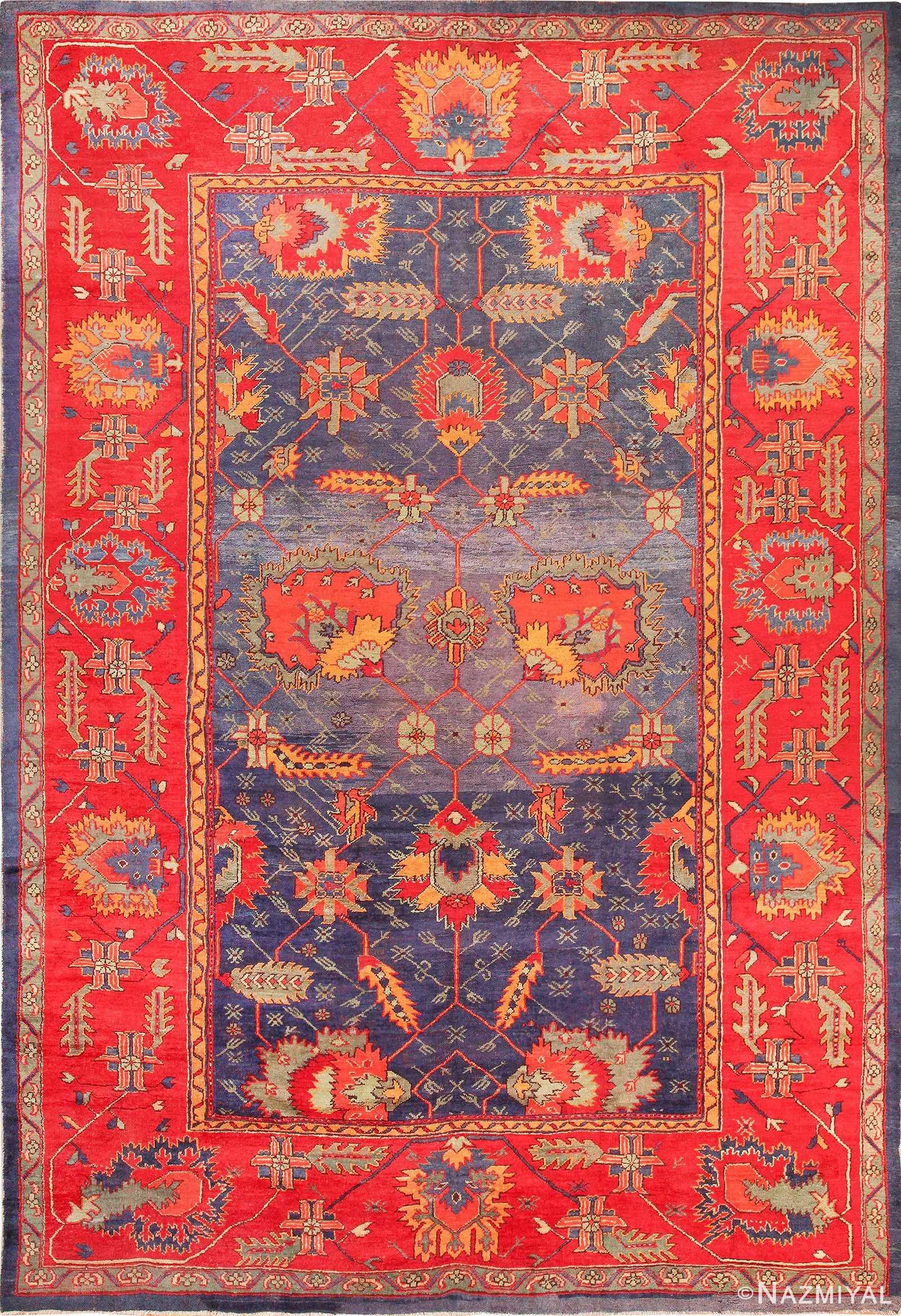 Antique Arts and Crafts Turkish Oushak Rug 49596 by Namziyal