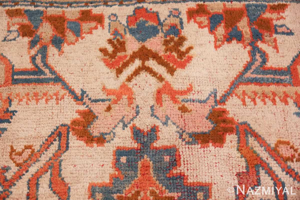 large ivory arts and crafts design antique turkish oushak rug 49672 design Nazmiyal