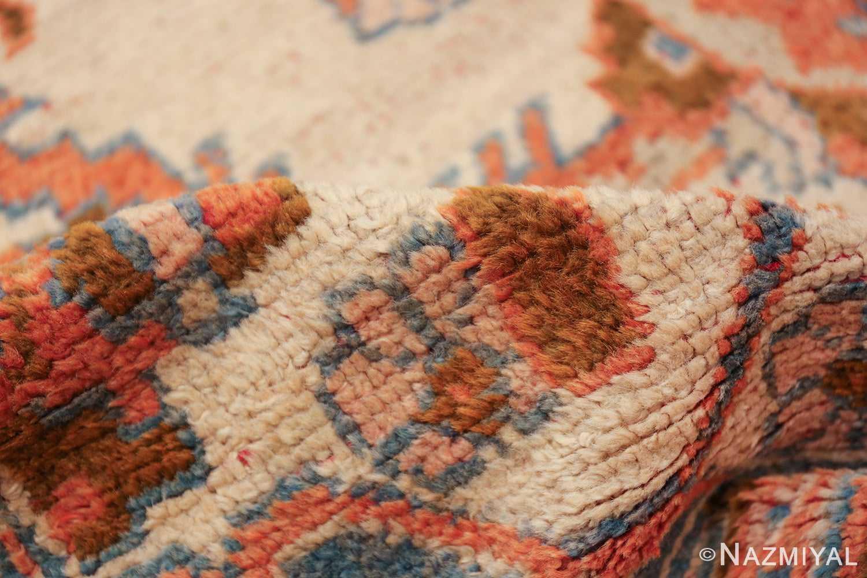 large ivory arts and crafts design antique turkish oushak rug 49672 pile Nazmiyal