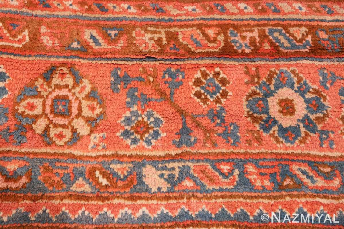 large ivory arts and crafts design antique turkish oushak rug 49672 red Nazmiyal
