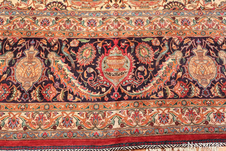 large jewel tone vintage persian tabriz rug 60041 border Nazmiyal