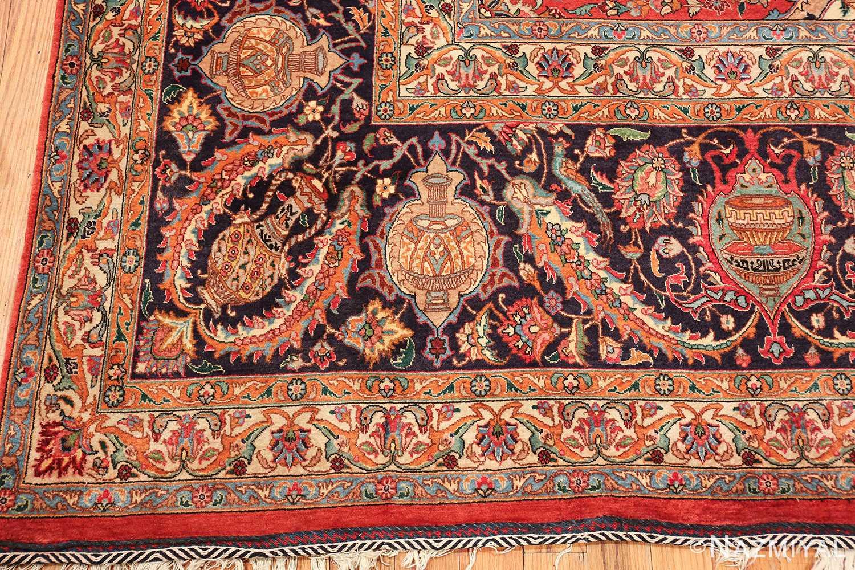 large jewel tone vintage persian tabriz rug 60041 corner Nazmiyal