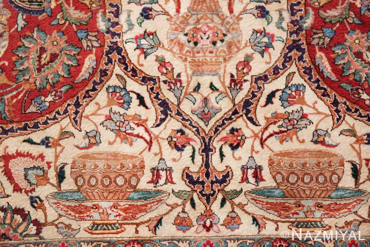 large jewel tone vintage persian tabriz rug 60041 cup Nazmiyal
