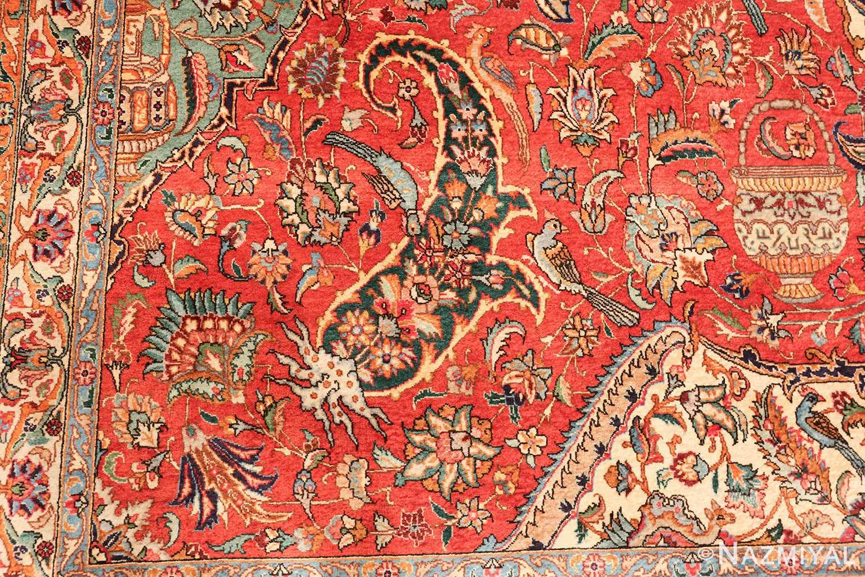 large jewel tone vintage persian tabriz rug 60041 design Nazmiyal