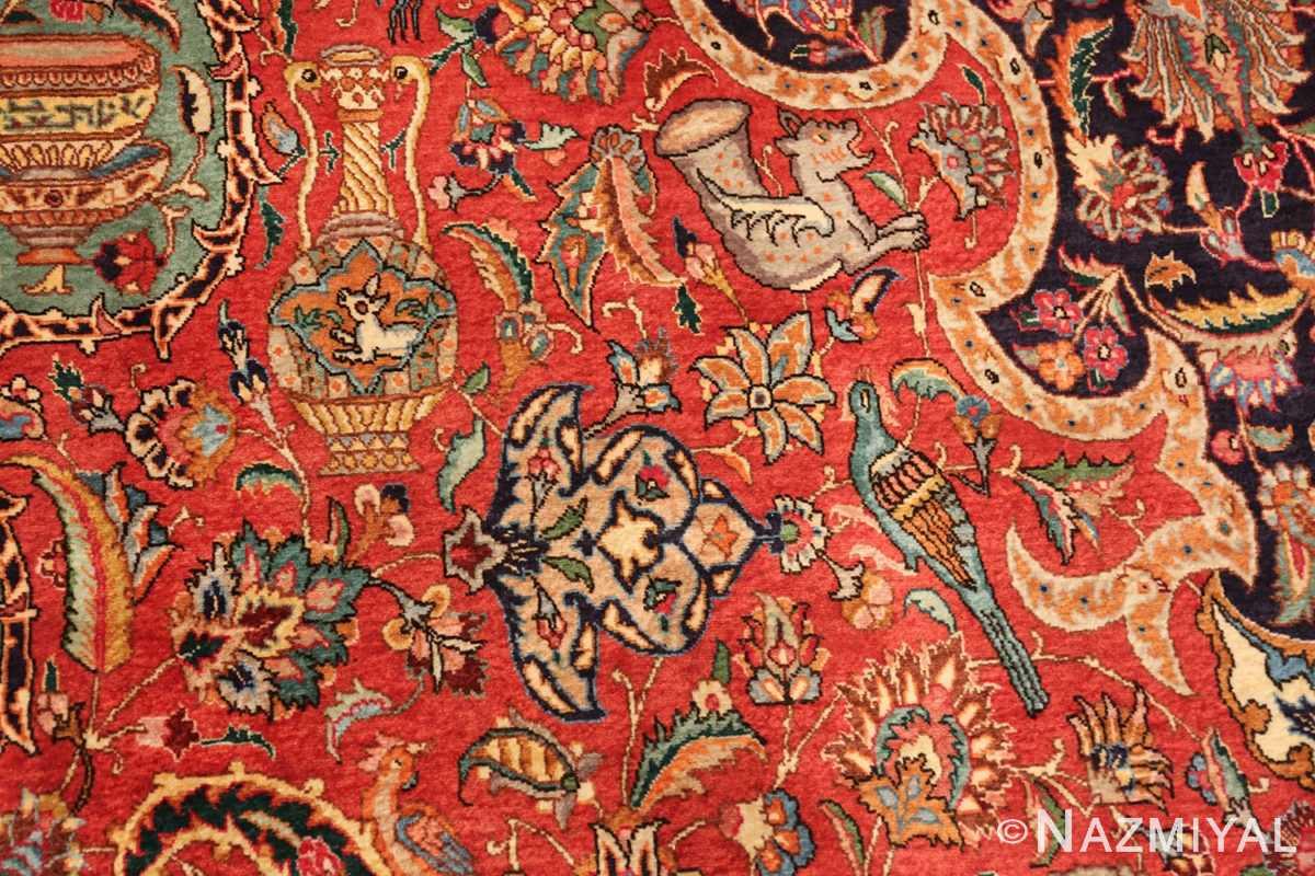 large jewel tone vintage persian tabriz rug 60041 jaam Nazmiyal