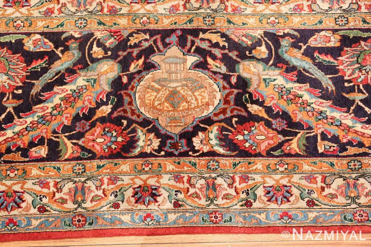 large jewel tone vintage persian tabriz rug 60041 jar Nazmiyal