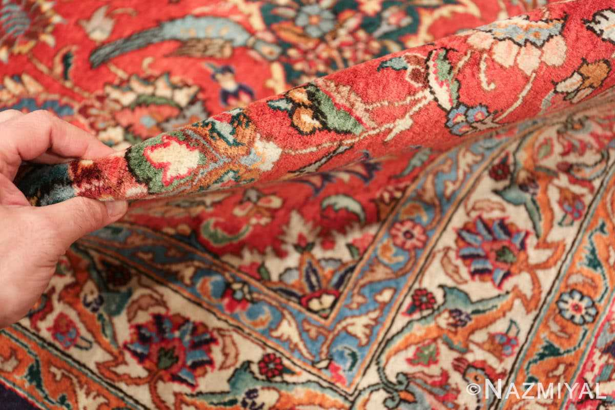 large jewel tone vintage persian tabriz rug 60041 pile Nazmiyal