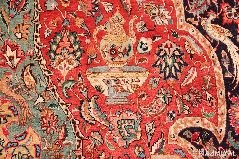 large jewel tone vintage persian tabriz rug 60041 pot Nazmiyal