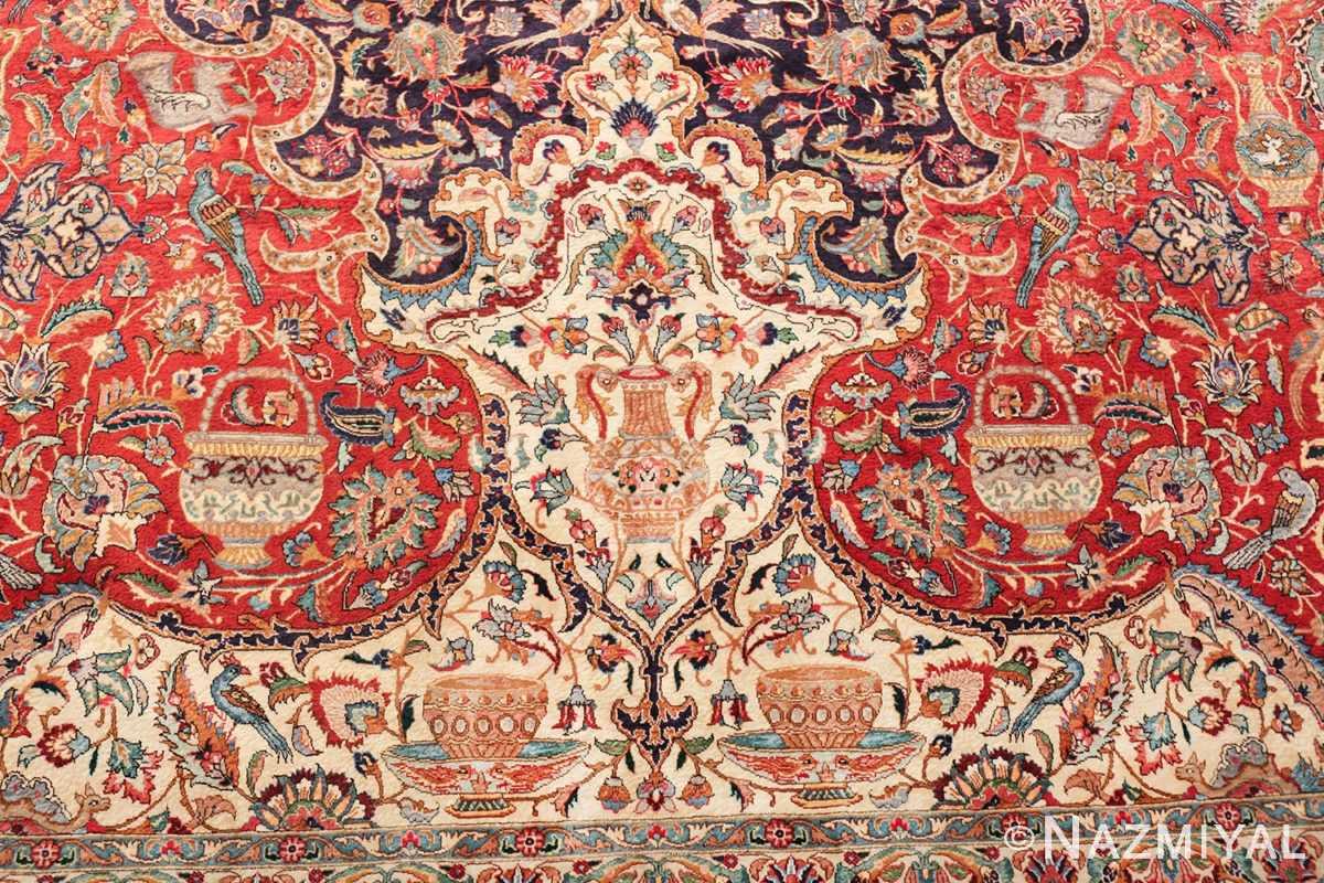 large jewel tone vintage persian tabriz rug 60041 top Nazmiyal