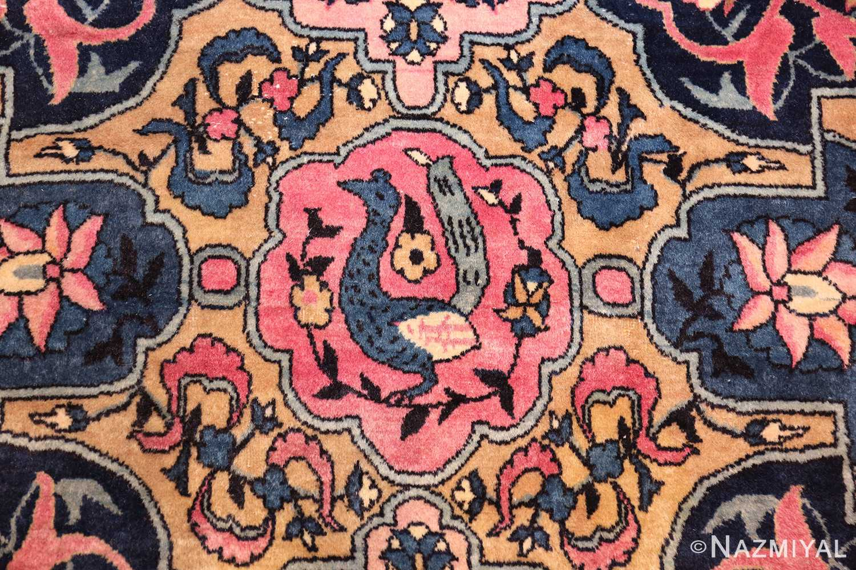 large light blue antique indian agra rug 49594 bird Nazmiyal