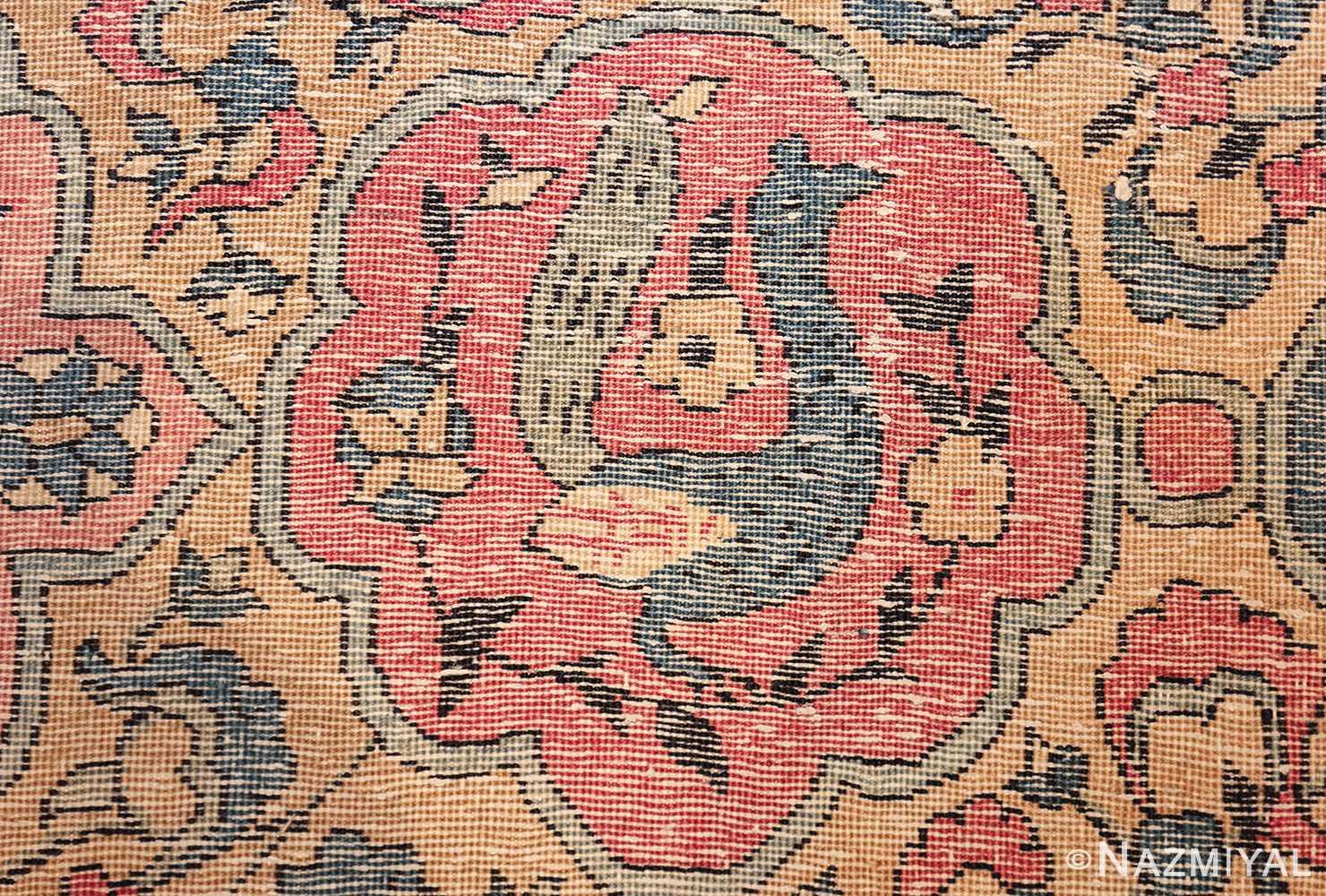 large light blue antique indian agra rug 49594 knots Nazmiyal