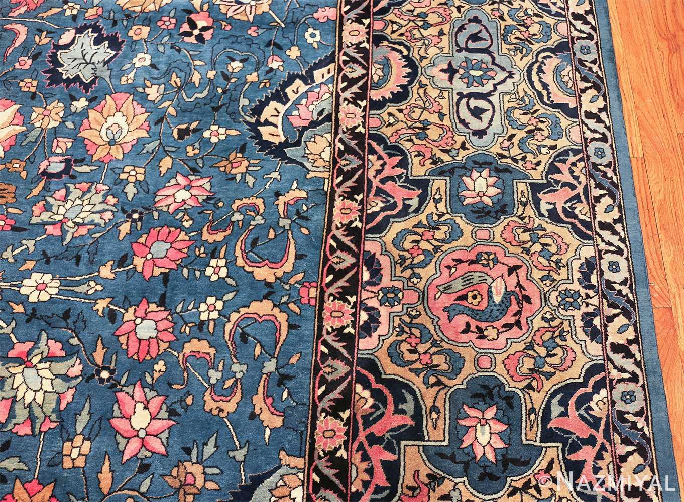 large light blue antique indian agra rug 49594 line Nazmiyal