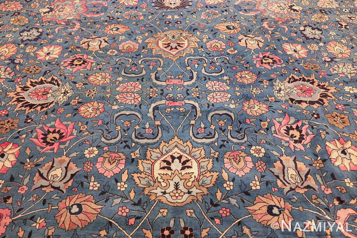 large light blue antique indian agra rug 49594 middle Nazmiyal