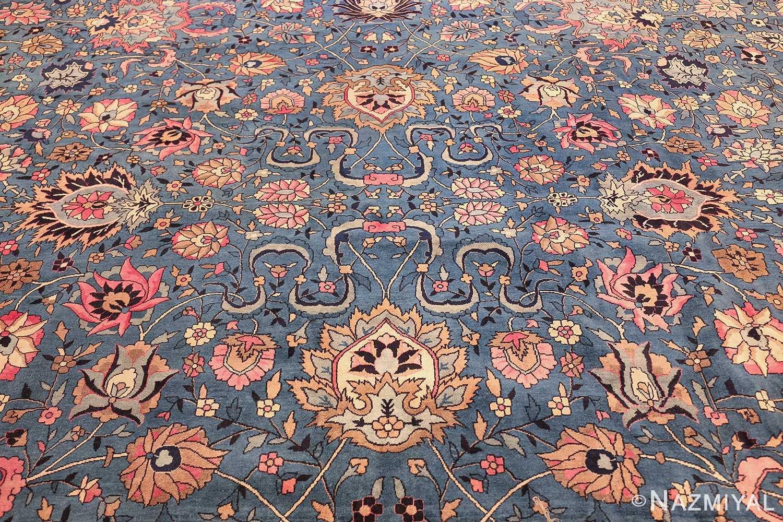 large light blue antique indian agra rug 49594 middle Nazmiyal
