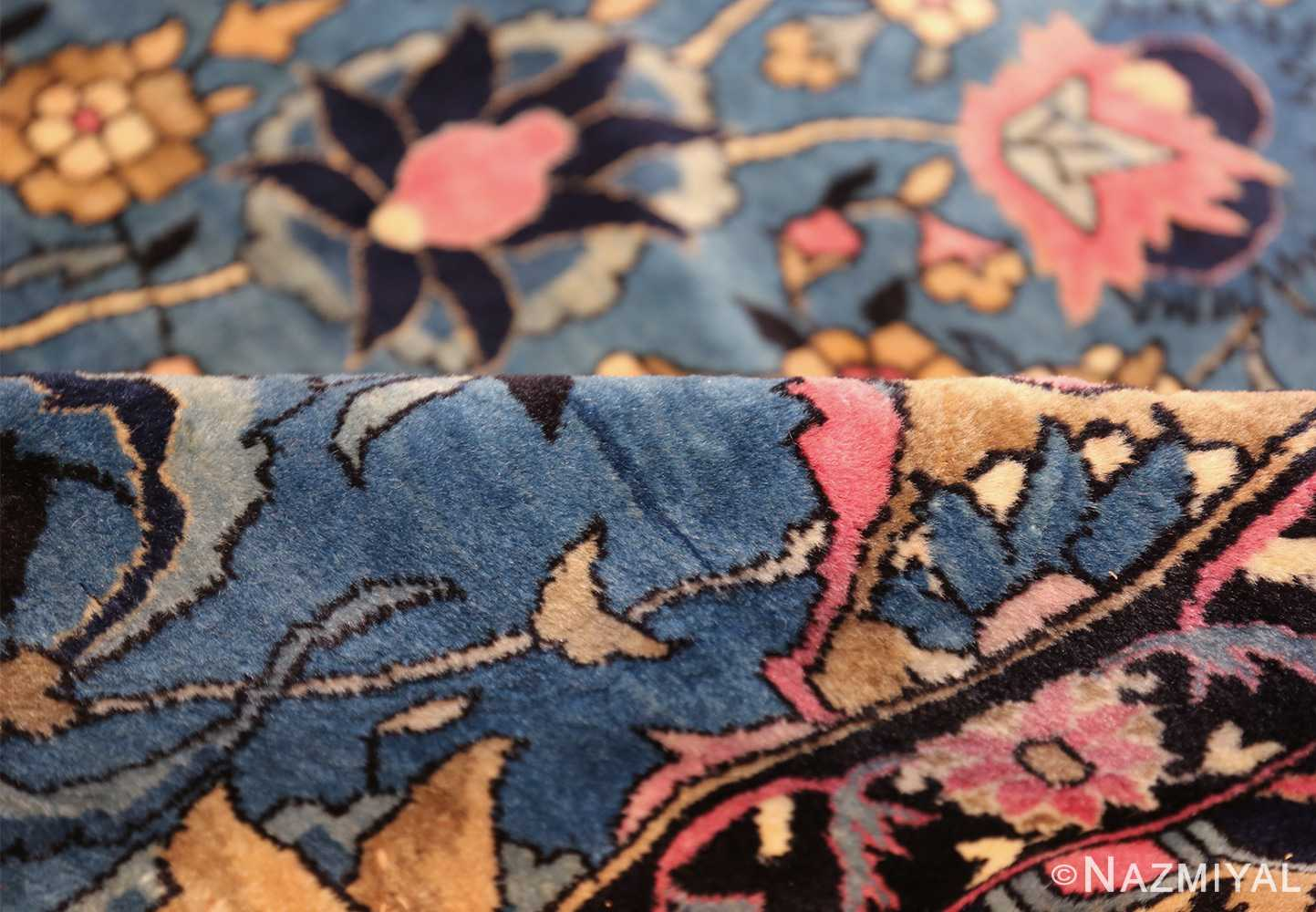 large light blue antique indian agra rug 49594 pile Nazmiyal