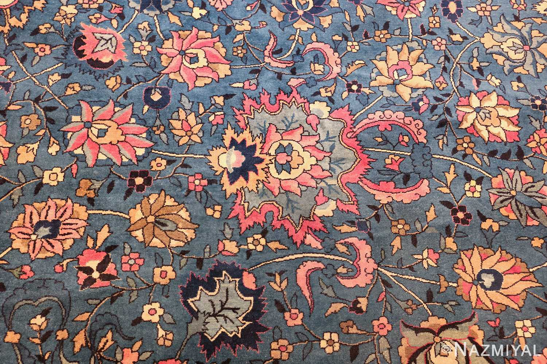 large light blue antique indian agra rug 49594 red Nazmiyal