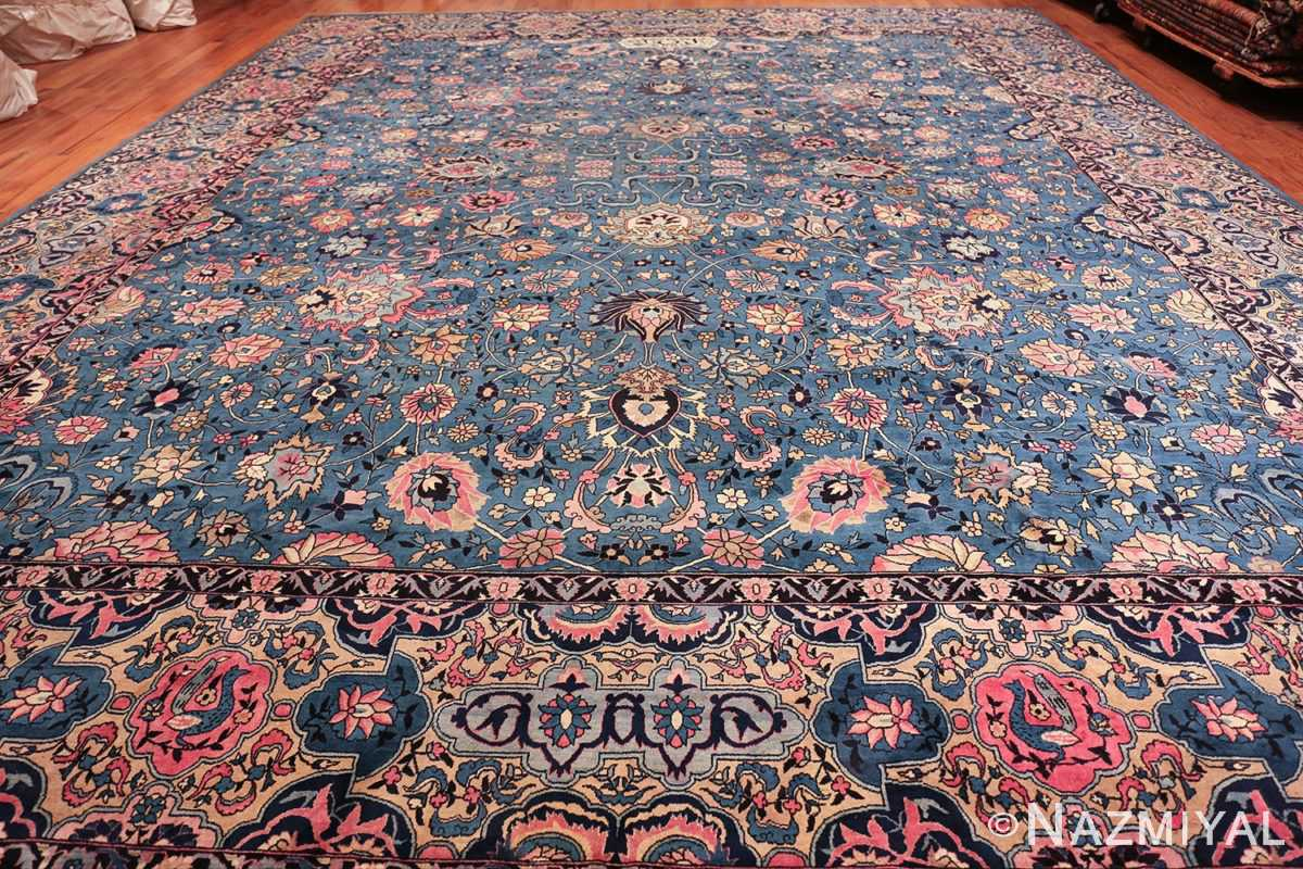 large light blue antique indian agra rug 49594 whole Nazmiyal