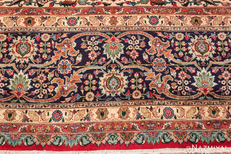 large red background vintage persian tabriz rug 60042 border Nazmiyal