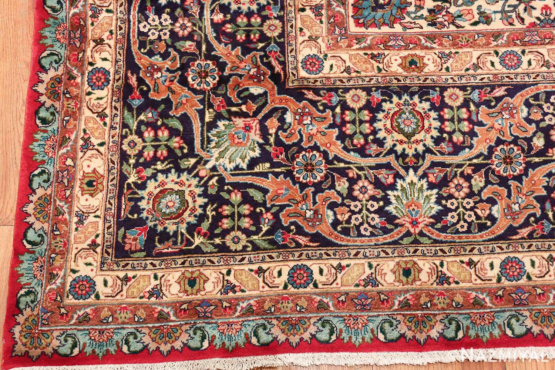 large red background vintage persian tabriz rug 60042 corner Nazmiyal