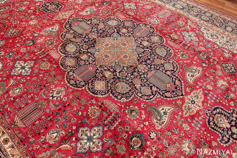 large red background vintage persian tabriz rug 60042 field Nazmiyal