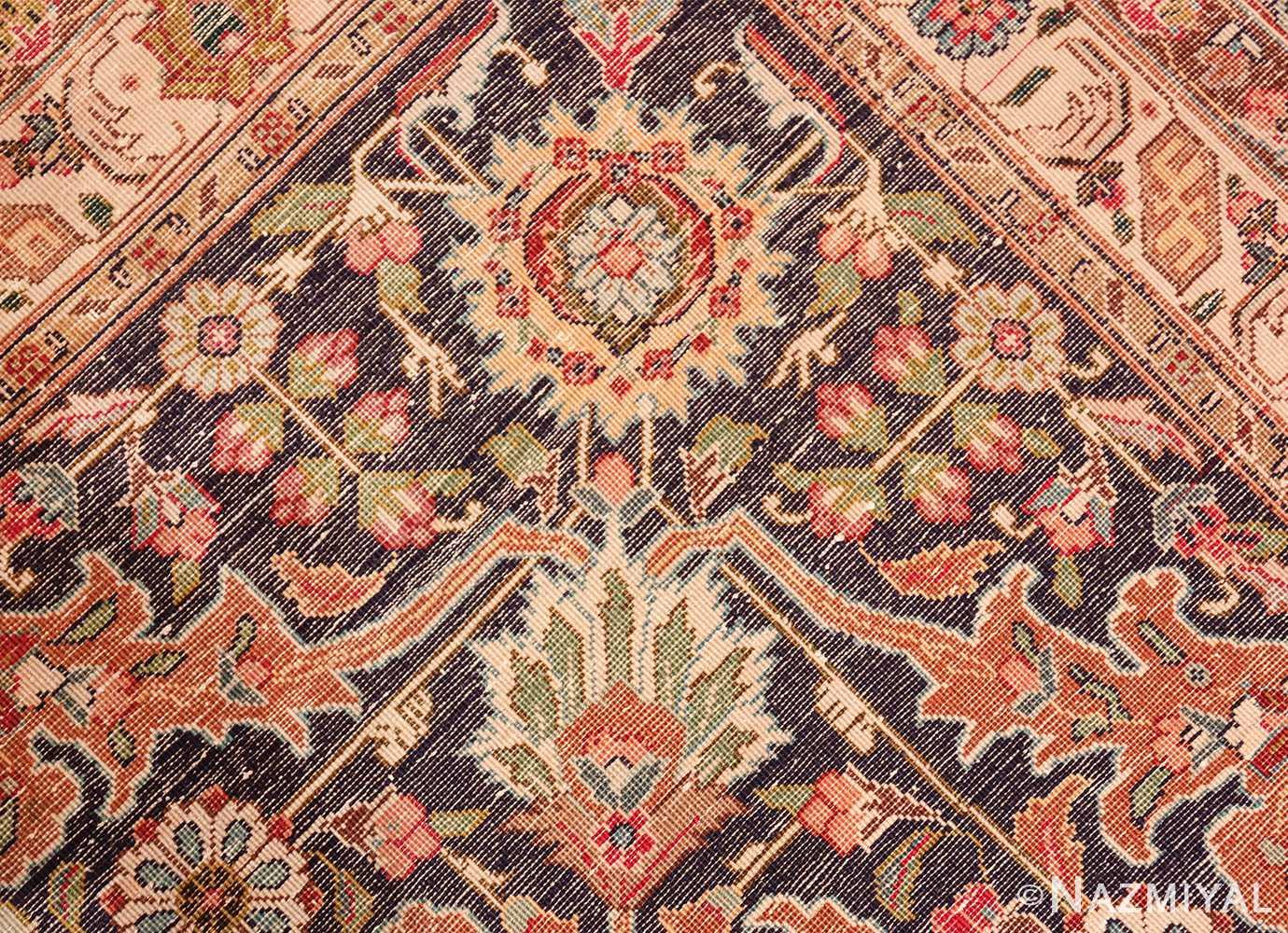 large red background vintage persian tabriz rug 60042 knots Nazmiyal