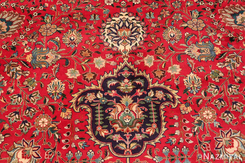 large red background vintage persian tabriz rug 60042 tiara Nazmiyal