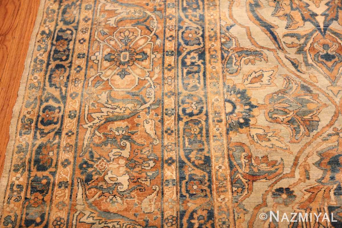 large sea foam shield design antique persian kerman rug 49677 border Nazmiyal