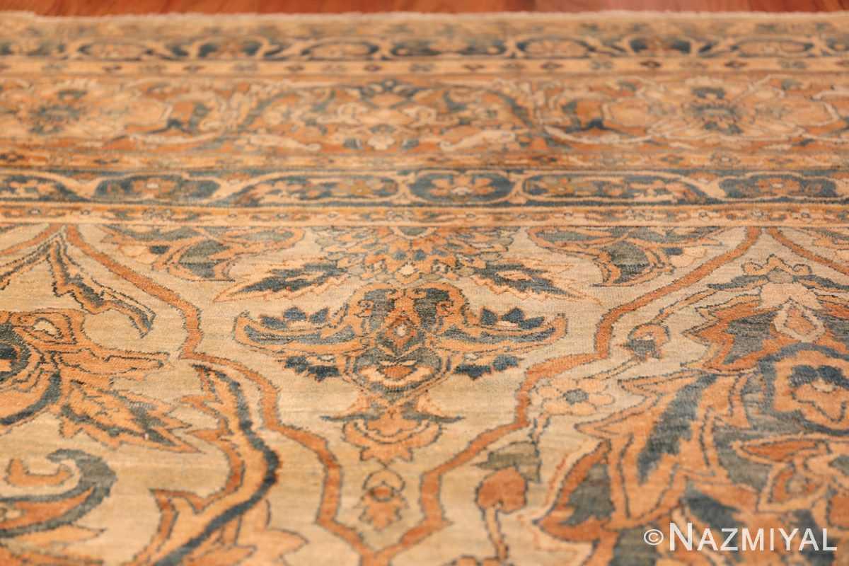 large sea foam shield design antique persian kerman rug 49677 bushes Nazmiyal