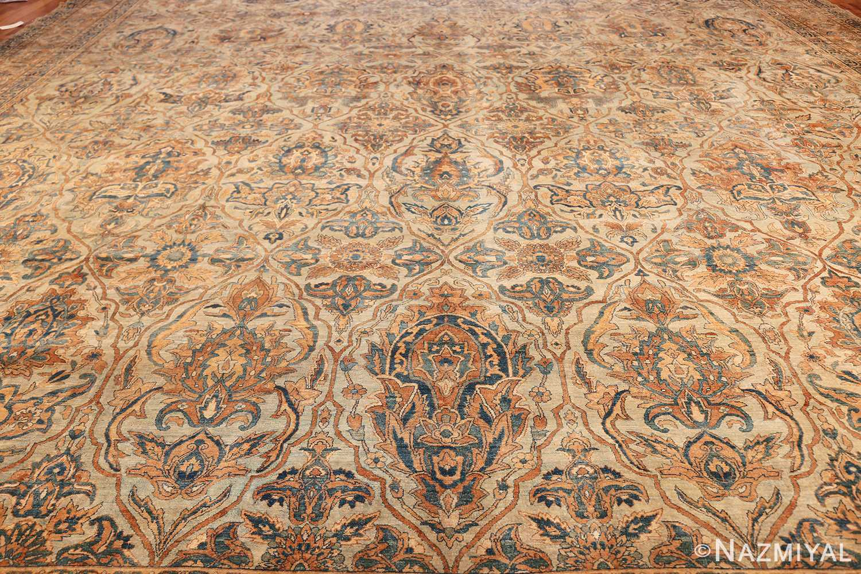 large sea foam shield design antique persian kerman rug 49677 field Nazmiyal