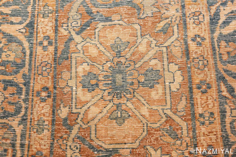 large sea foam shield design antique persian kerman rug 49677 knots Nazmiyal