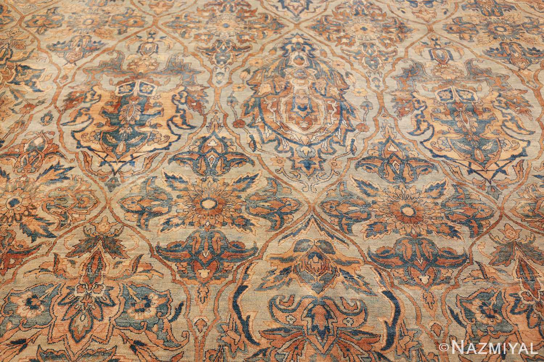 large sea foam shield design antique persian kerman rug 49677 middle Nazmiyal