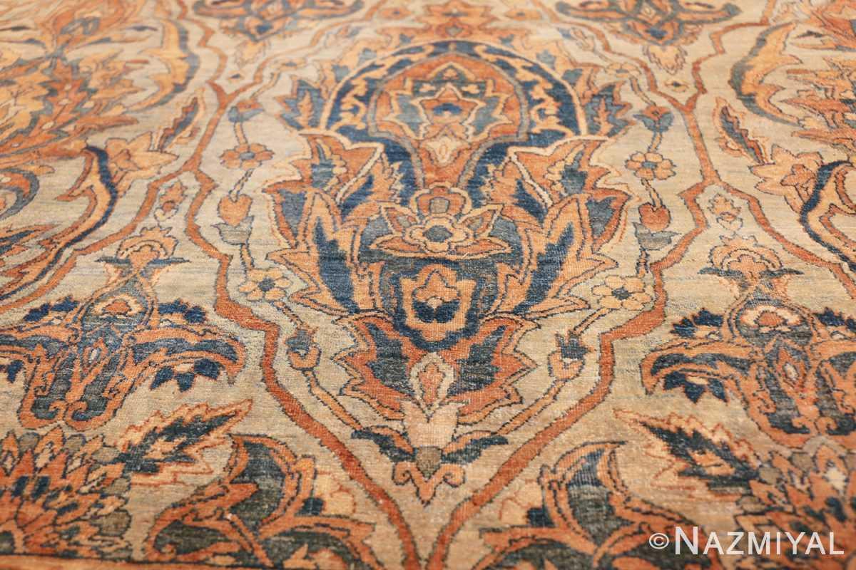 large sea foam shield design antique persian kerman rug 49677 one Nazmiyal