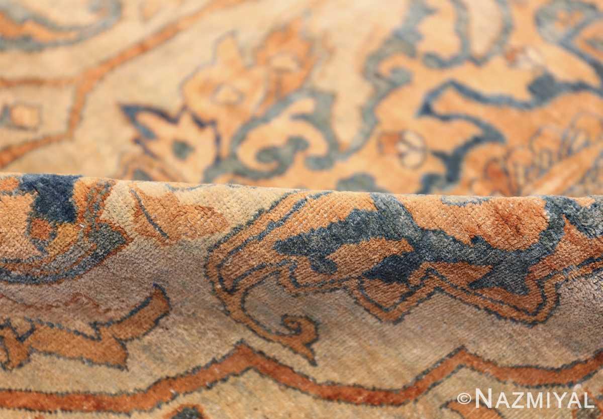 large sea foam shield design antique persian kerman rug 49677 pile Nazmiyal